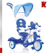 KIDDO Ποδηλατάκι Pilot Bear Blue Kiddo 12014-5