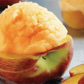 Παγωμένα φρούτα γεμιστά με σορμπέ