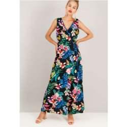 Φλοράλ ολόσωμη φόρμα σε στιλ κιμονό.