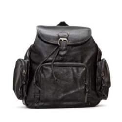 Τσάντα πλάτης μαύρη με τσεπάκια φερμουάρ