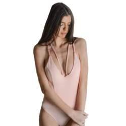 Κορμάκι με διπλή ράντα και χιαστή πλάτη (Ροζ)