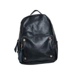 Τσάντα πλάτης με φερμουάρ και τρούκς Μαύρο