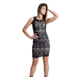 Μίνι φόρεμα με δαντέλα μαύρη