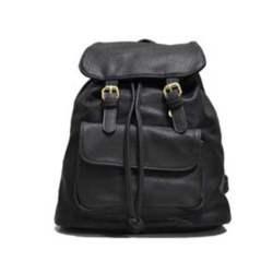 Τσάντα πλάτης μαυρη με δύο τοκες