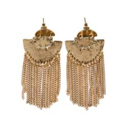 Boho σκουλαρίκια με χρυσές αλυσίδες