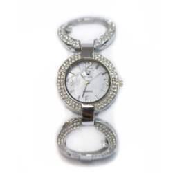 Ρολόι faux bijoux ασημι με κρικους (1780)