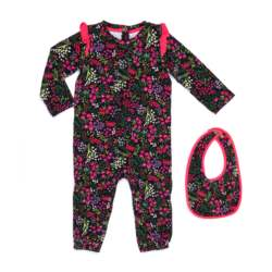 JUICY COUTURE KIDS - Βρεφικό σετ JUICY COUTURE KIDS εμπριμέ-ροζ