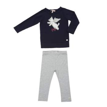 JUICY COUTURE KIDS - Βρεφικό σετ Juicy Couture μπλε-γκρι