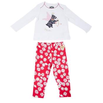 JUICY COUTURE KIDS - Βρεφικό σετ Juicy Couture φούξια-λευκό
