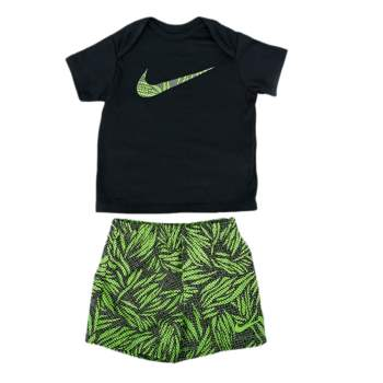 NIKE - Βρεφικό σετ-μαγιό Nike μαύρο-πράσινο