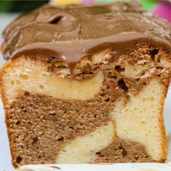 Κέικ με γέμιση και άλειμμα μερέντας