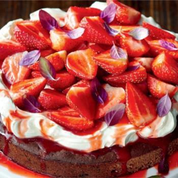Κέικ Nutella's με φράουλες