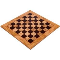 Ξύλινη Σκακιέρα Ρίζα 50cm Ελιά - Βέγκε