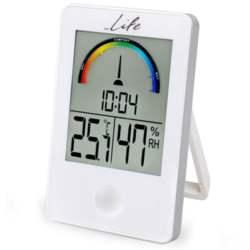 Ψηφιακό Θερμόμετρο-Υγρόμετρο Life WES-101 Λευκό
