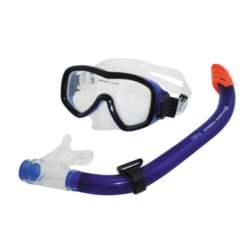 Σετ Μάσκας Σιλικόνης - Αναπνευστήρα Fabia Χρώμα Μπλε