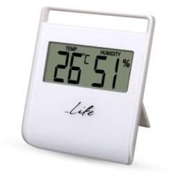 Ψηφιακό Θερμόμετρο-Υγρόμετρο Life WES-102 Λευκό