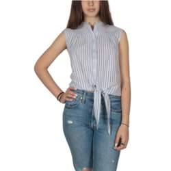 Ryujee Hori αμάνικο ριγέ πουκάμισο με δέσιμο