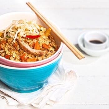 Kινέζικο τηγανητό ρύζι στο γουόκ
