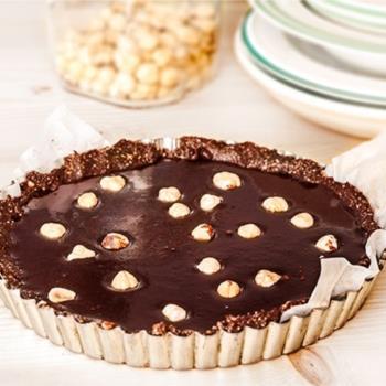 Τάρτα full σοκολάτας νηστίσιμη, χωρίς ζάχαρη και αβγά και χωρίς ψήσιμο