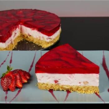Γλυκό ψυγείου με φράουλες χωρίς ζάχαρη (Video)